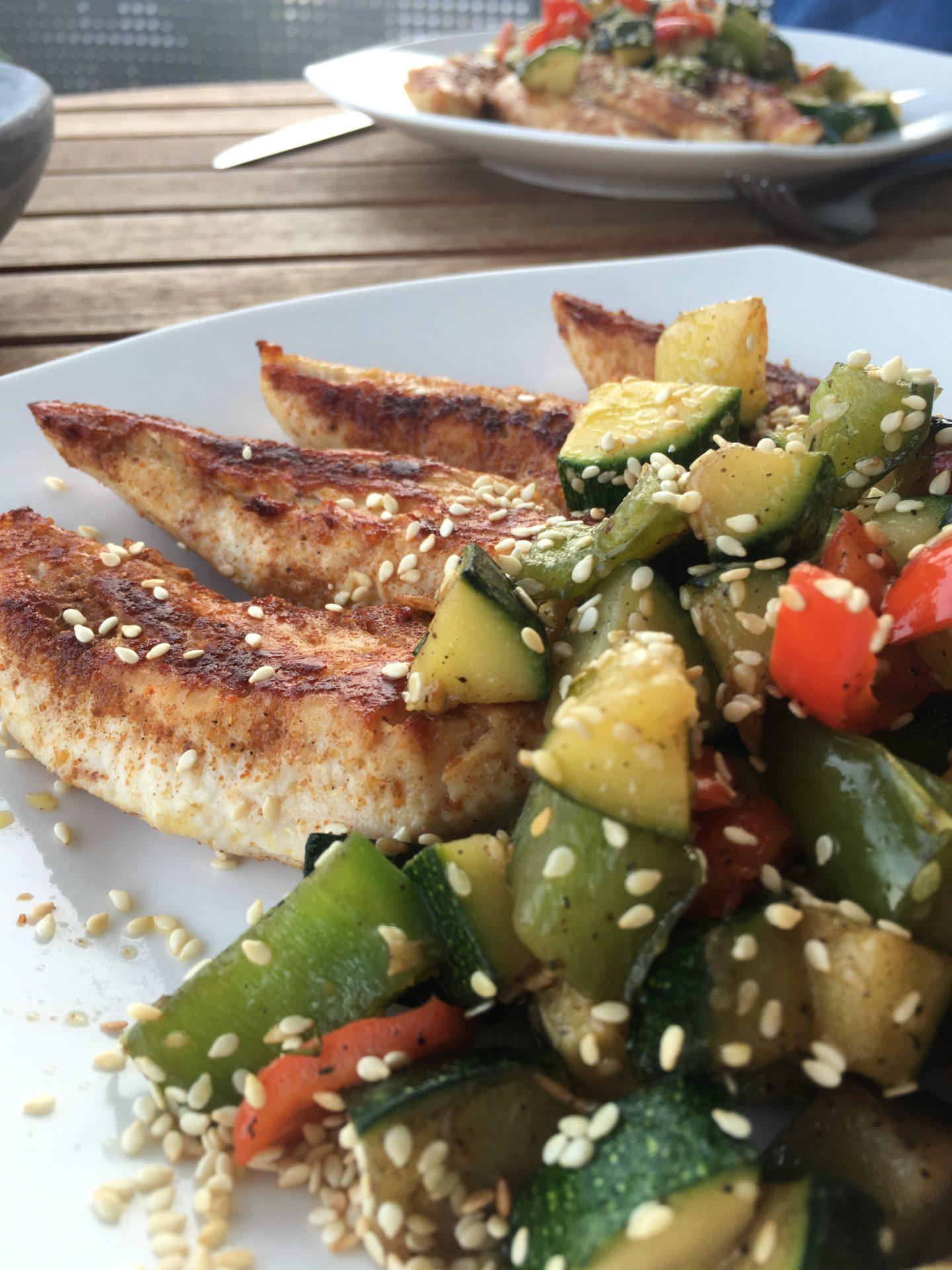 NUTRITION – Tandoori-Chicken mit Gemüse